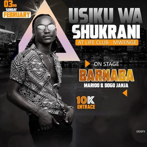 UsikuWashukrani 500x500 Barnaba Usiku wa shukrani